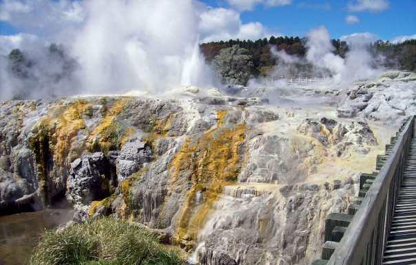 Geothermic activity at Te Puia, Rotorua, New Zealand