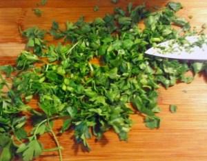 Fresh parsley, chopped