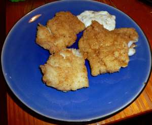 Pan-fried Haddock with Tartar Sauce
