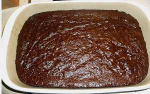 Brownies after baking