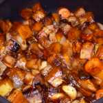 Roasted Autumn Vegetables with Balsamic Glaze - minus Brussels sprouts