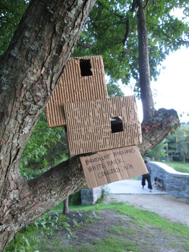 Brutalist Birdhouse, because birds deserve good design, too