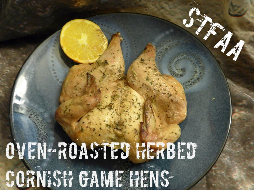 Oven-Roasted Herbed Cornish Game Hens