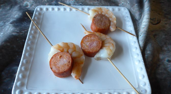 Shrimp & Sausage Skewers