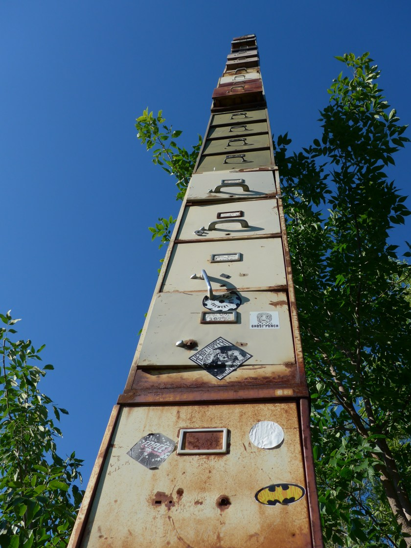"""World's Tallest"" filing cabinet -- or at least the tallest in Vermont"