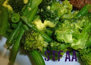 Homemade Margarine, New and Improved on steamed broccoli