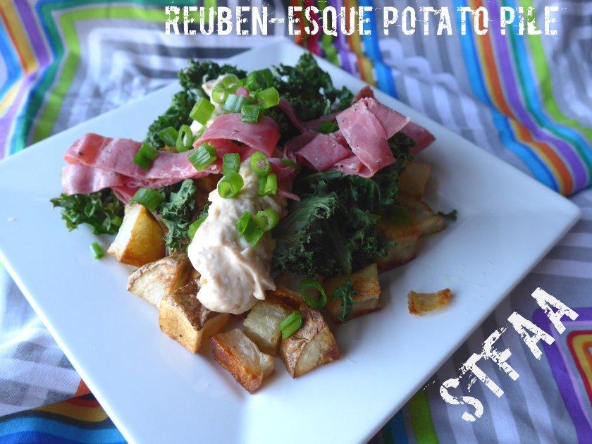 Reuben-esque Potato Pile