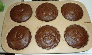 Chocolate Mini Bundt Cakes just out of the oven