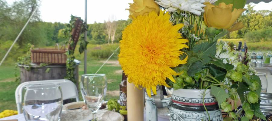 A Centerpiece from a wedding Denise recently attended