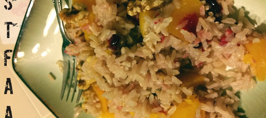 Festive Squash and Cranberry Baked Rice