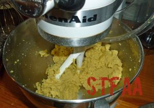 Homemade Margarine and Sugar Mixture after beating