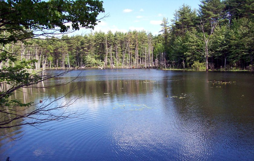A lake, west of Concord, New Hampshire, but Denise can't remember which one