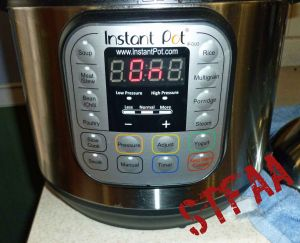 Instant Pot DUO60 6 Quart 7-in-1 buttons