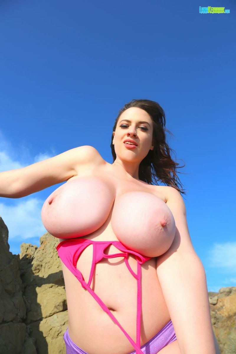 Real Big Tits on Rocky Beach