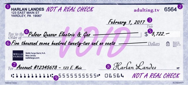 The Art of Writing a Check  Adulting
