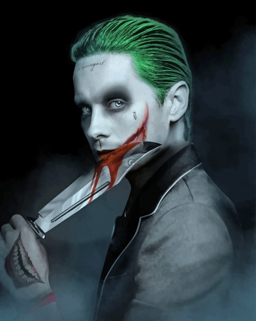 Joker Face Paint Suicide Squad : joker, paint, suicide, squad, Joker, Suicide, Squad, Bloody, Paint, Number, Numbers, Adult
