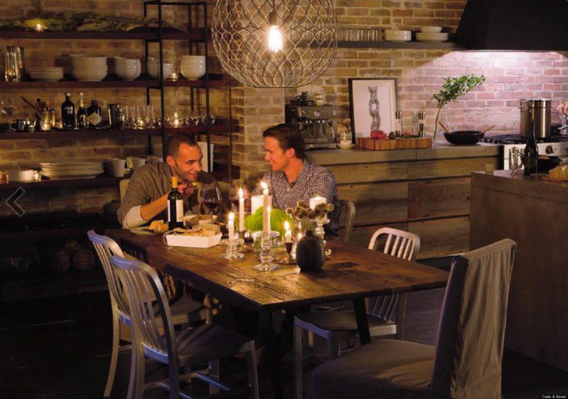 Men Meeting For Dinner