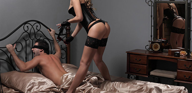 Submissive Roped Man