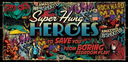 Banner for the Super Hung Heroes