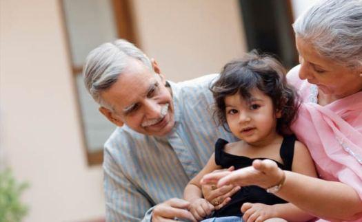 Singaporean Indian Family Happy Grandparents