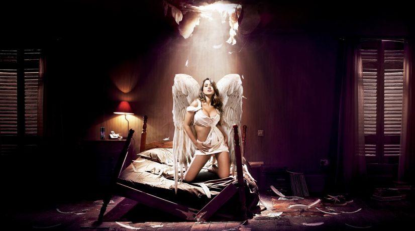 Lynx Angel on Bed