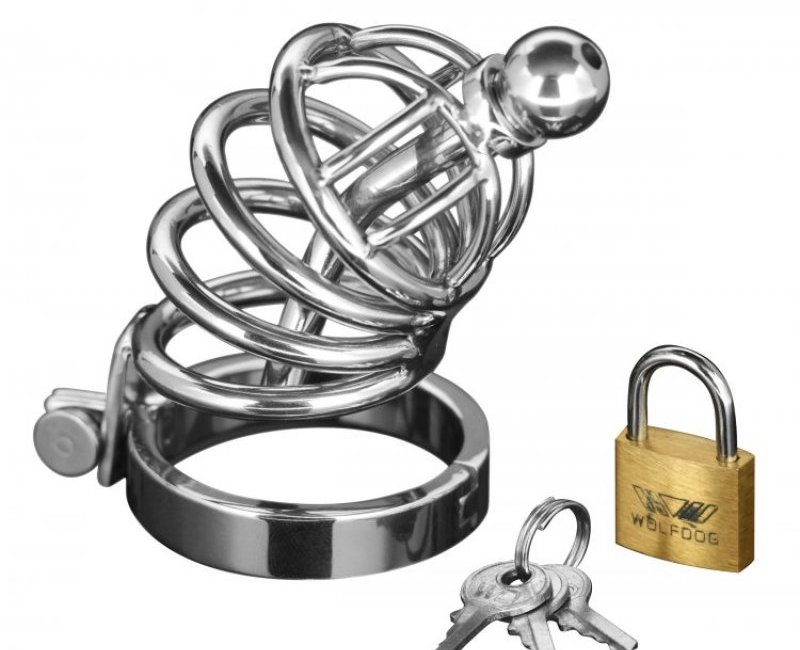 Chastity device in surgical steel