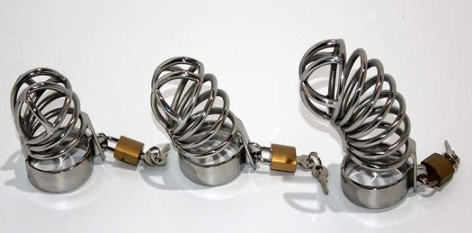 Surgical steel chastity devices