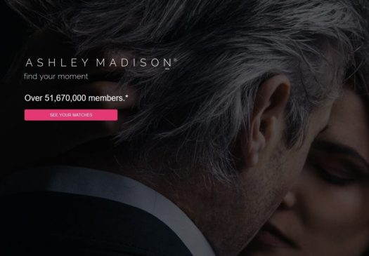 Current Ashley Madison Website Photo