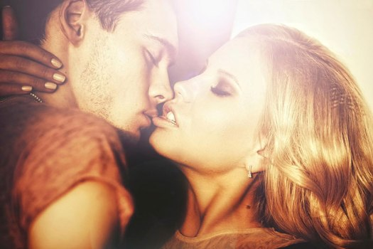 Couple Almost Kissing Photo
