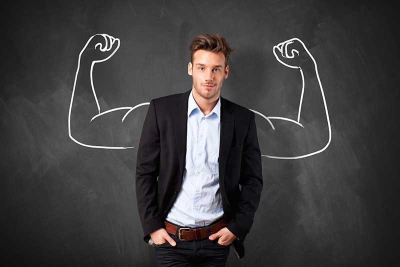 Business Man with Muscles Photo