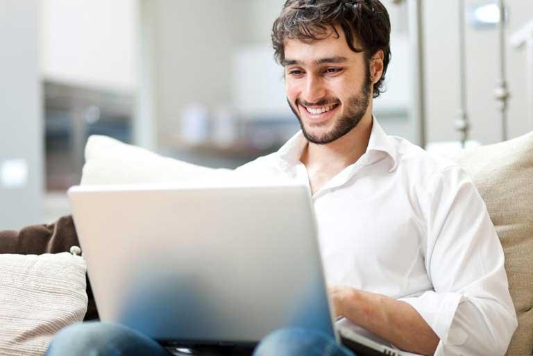Man Using Laptop Image