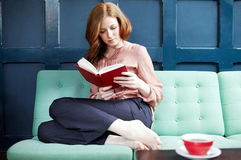 Woman Reading Photo