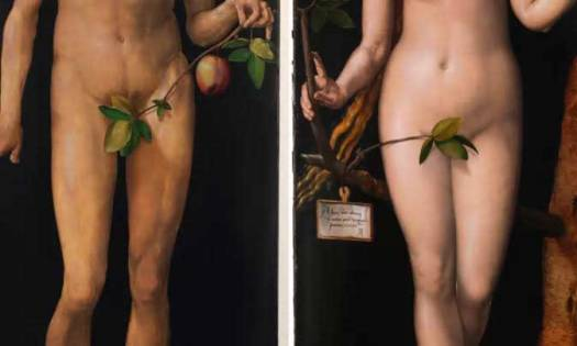 Painting Of Man And Woman With No Underwear