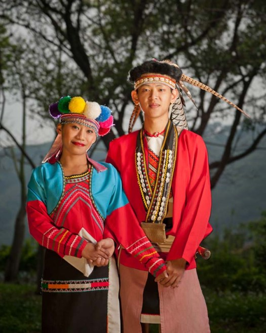 Man And Woman In Cultural Clothes In Taiwan