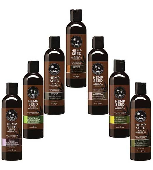 Massage oil made with Hemp