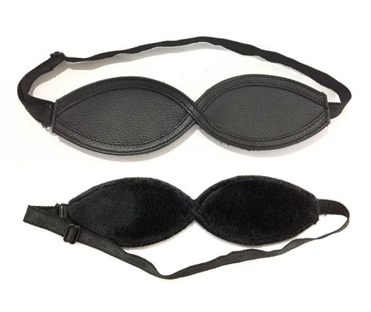 Blindfold made with leather