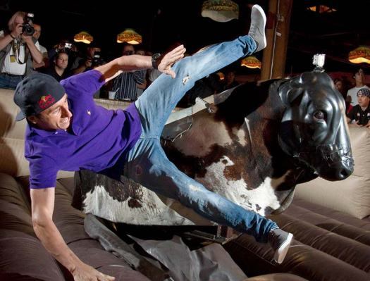 Mechanical Bull at a bucks party