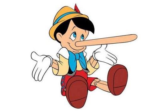 Pinocchio's long nose