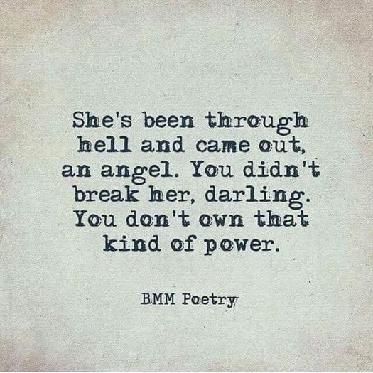 Breaking an angel quote
