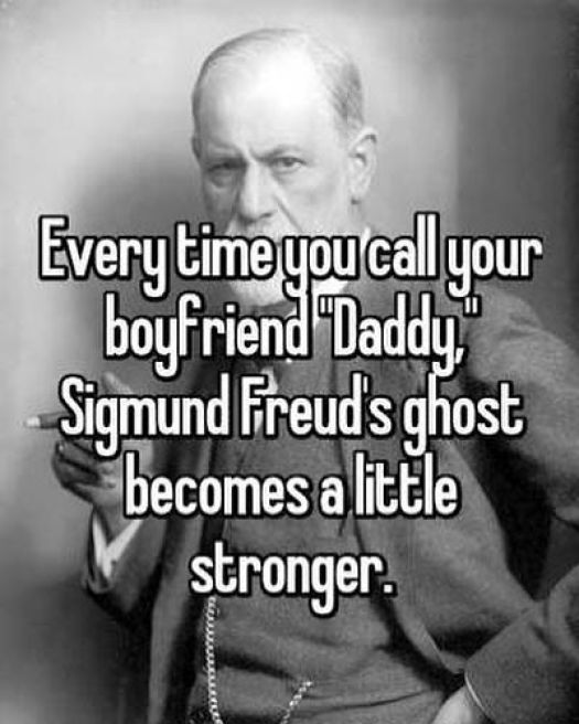 Sigmund Freud about daddy
