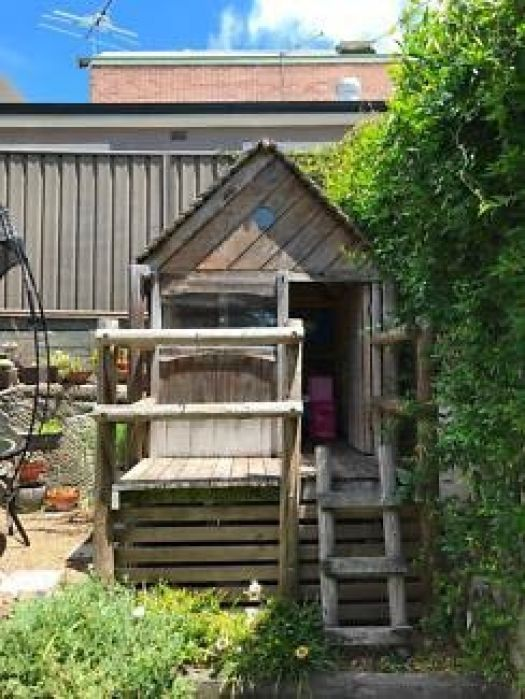 An outdoor cubby house
