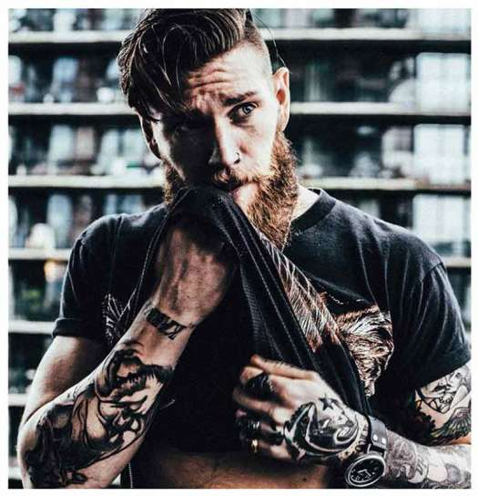 Man with tattoes