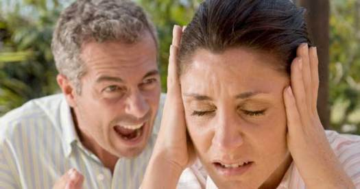 Man angry at woman