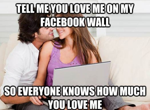Relationship posts on Facebook