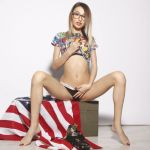 cam girl with us flag