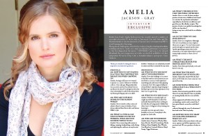 Interview Exclusive with Amelia Jackson-Gray