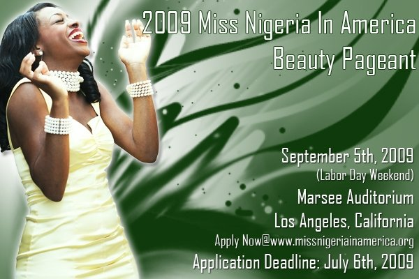 2009 Miss Nigeria In America Beauty Pageant