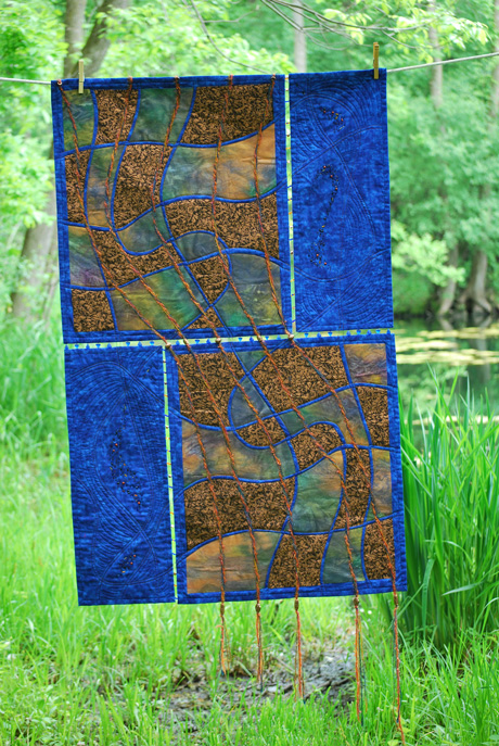 quilt with beads
