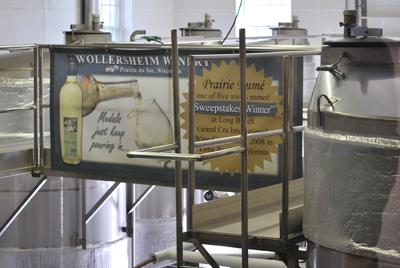 Wolllersheim's Prairie Fume vats