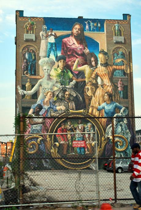 Common Threads mural in Philadelphia